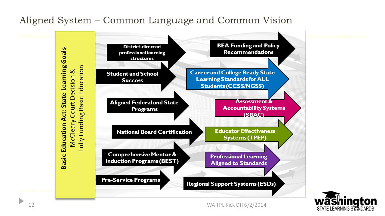 Aligned System – Common Language and Common Vision
