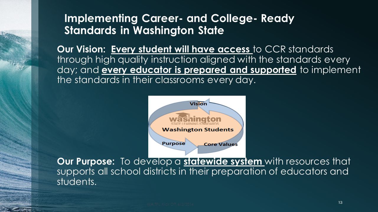 Implementing Career- and College- Ready Standards in Washington State