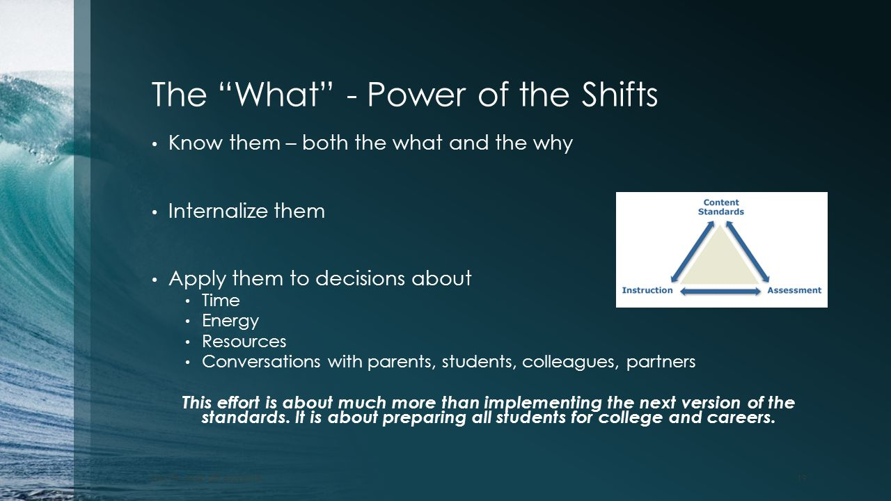 The What - Power of the Shifts
