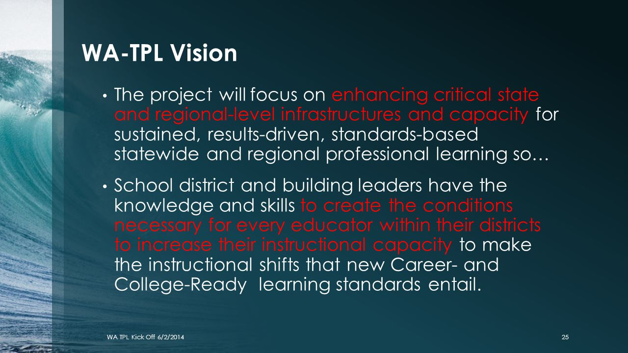 WA-TPL Vision