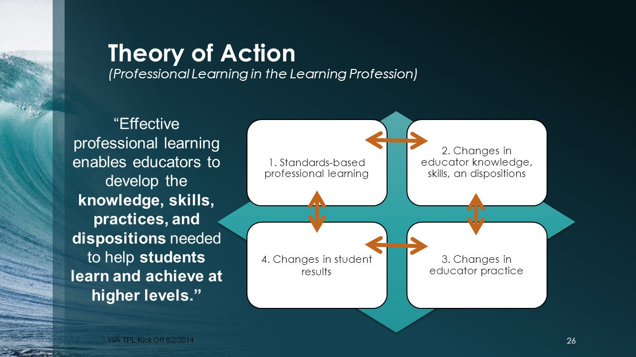 Theory of Action (Professional Learning in the Learning Profession)
