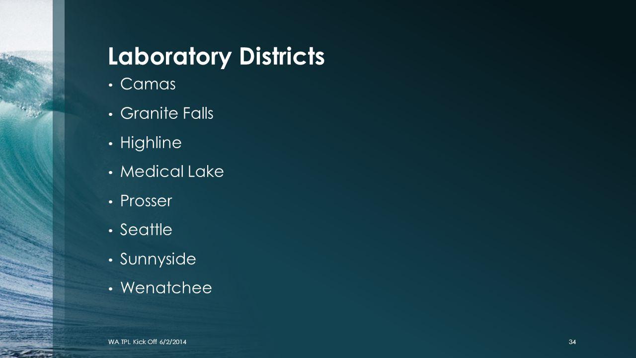 Laboratory Districts Camas Granite Falls Highline Medical Lake Prosser