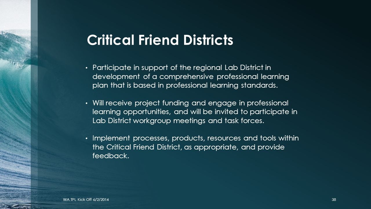 Critical Friend Districts