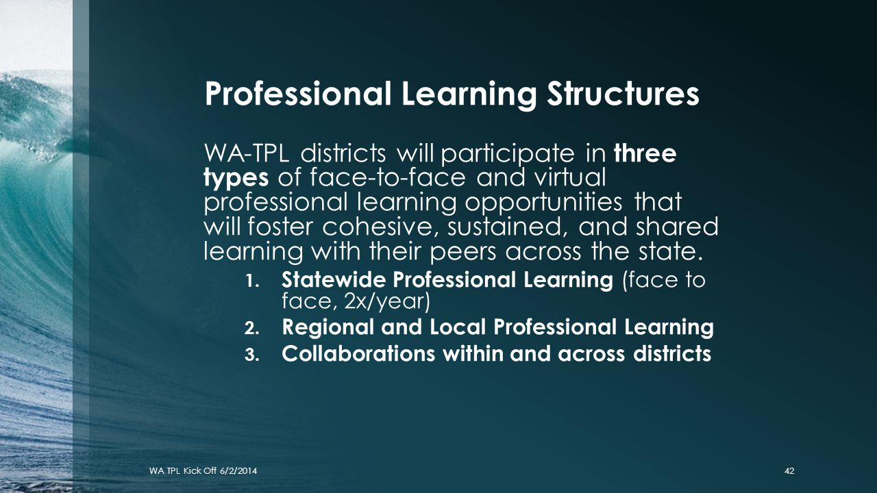 Professional Learning Structures