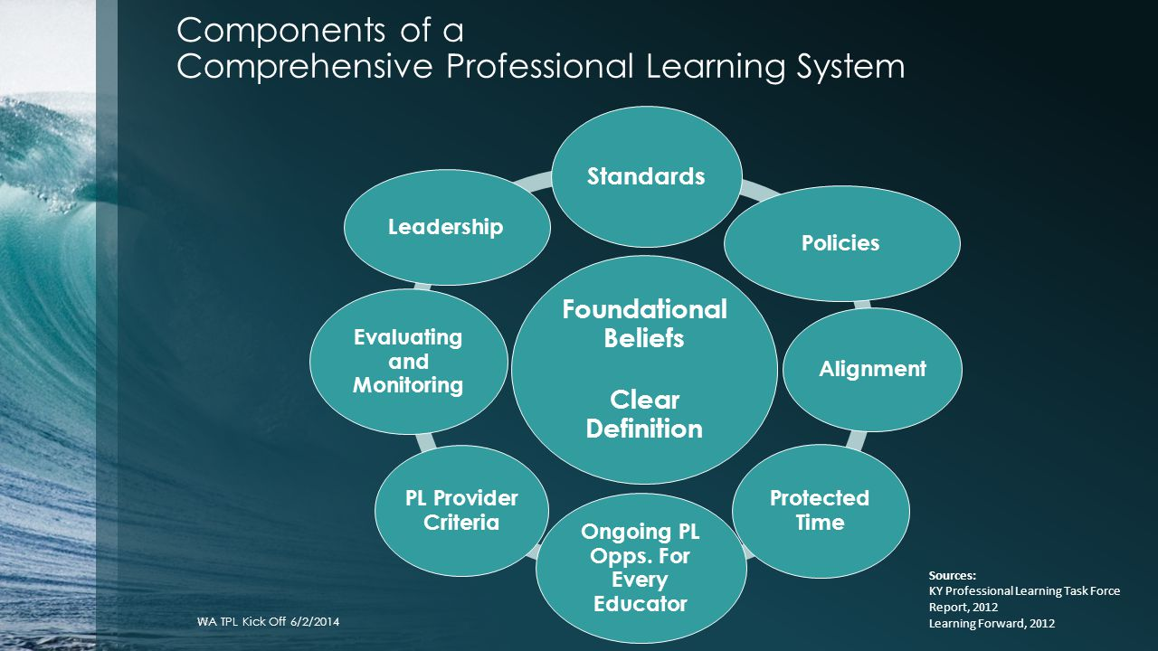 Components of a Comprehensive Professional Learning System