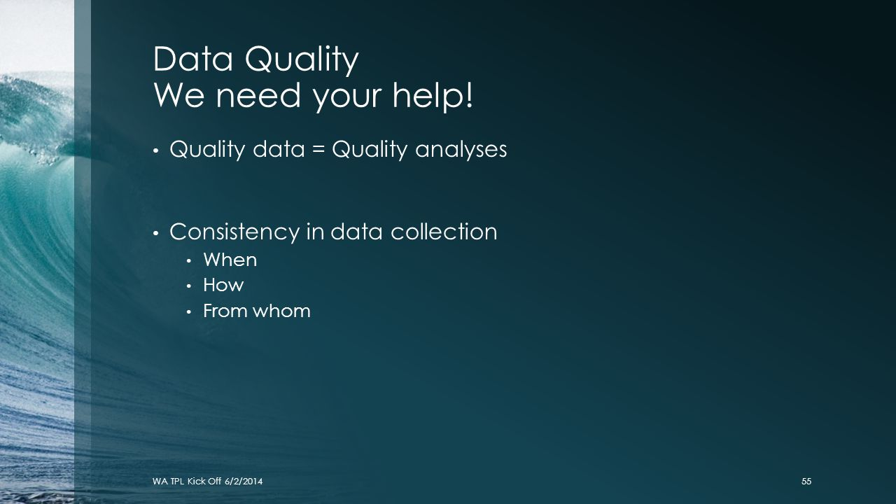 Data Quality We need your help!