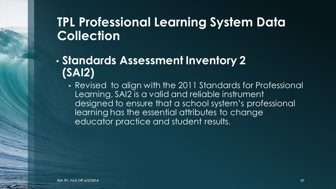 TPL Professional Learning System Data Collection