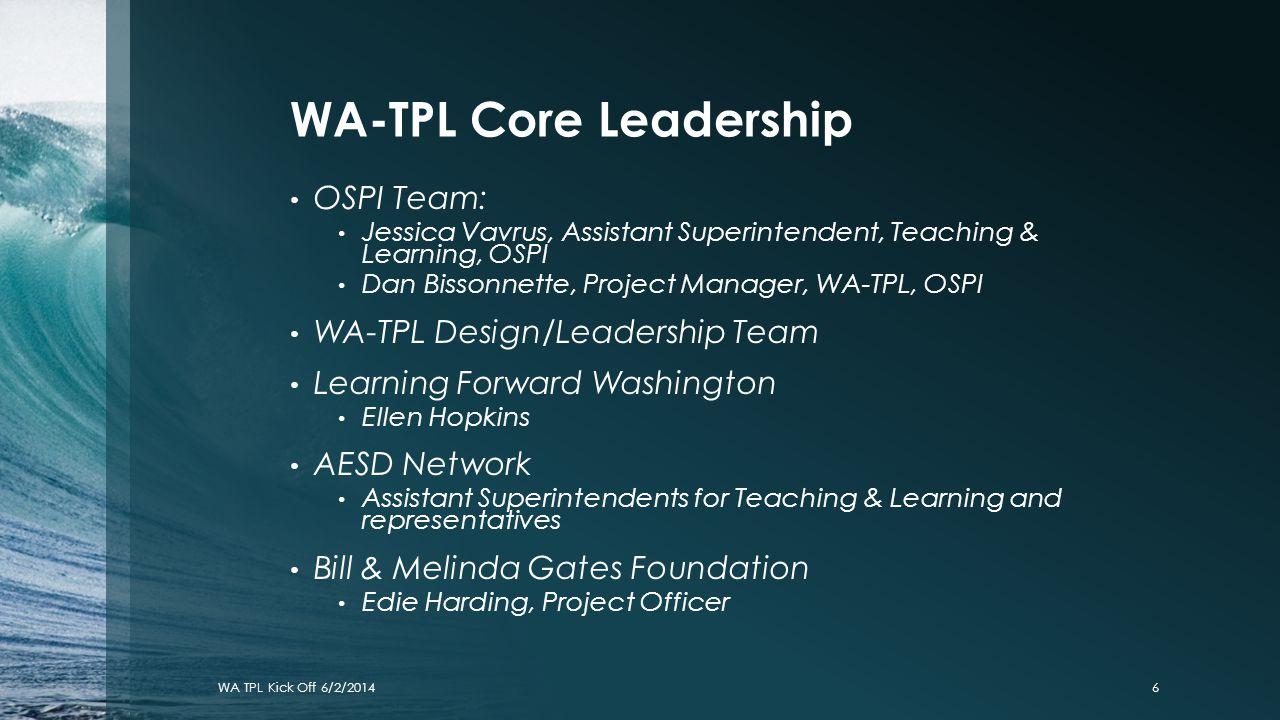 WA-TPL Core Leadership