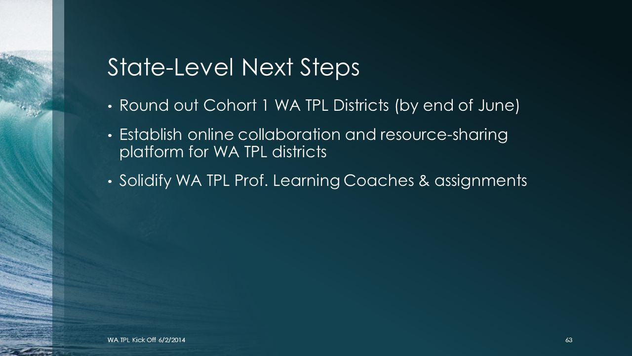 State-Level Next Steps