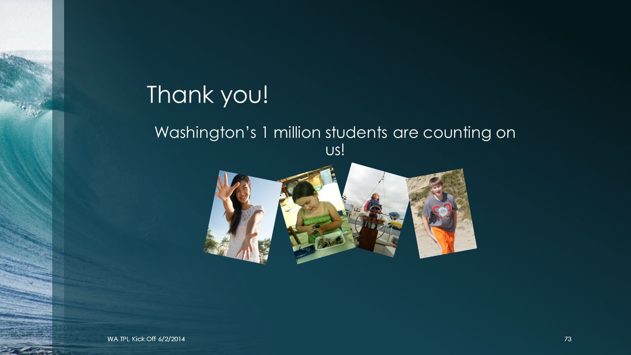 Washington's 1 million students are counting on us!