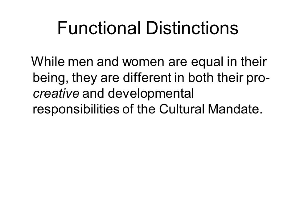 Functional Distinctions