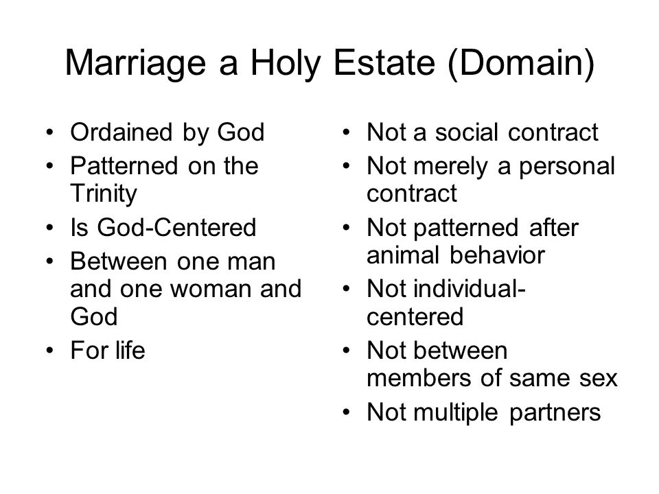 Marriage a Holy Estate (Domain)
