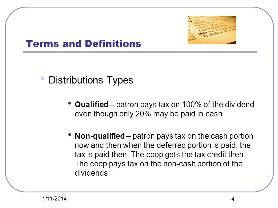 Distributions Types Terms and Definitions