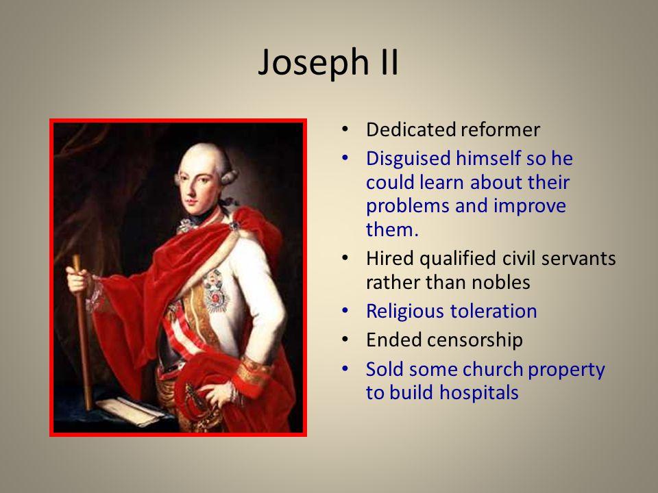 Joseph II Dedicated reformer