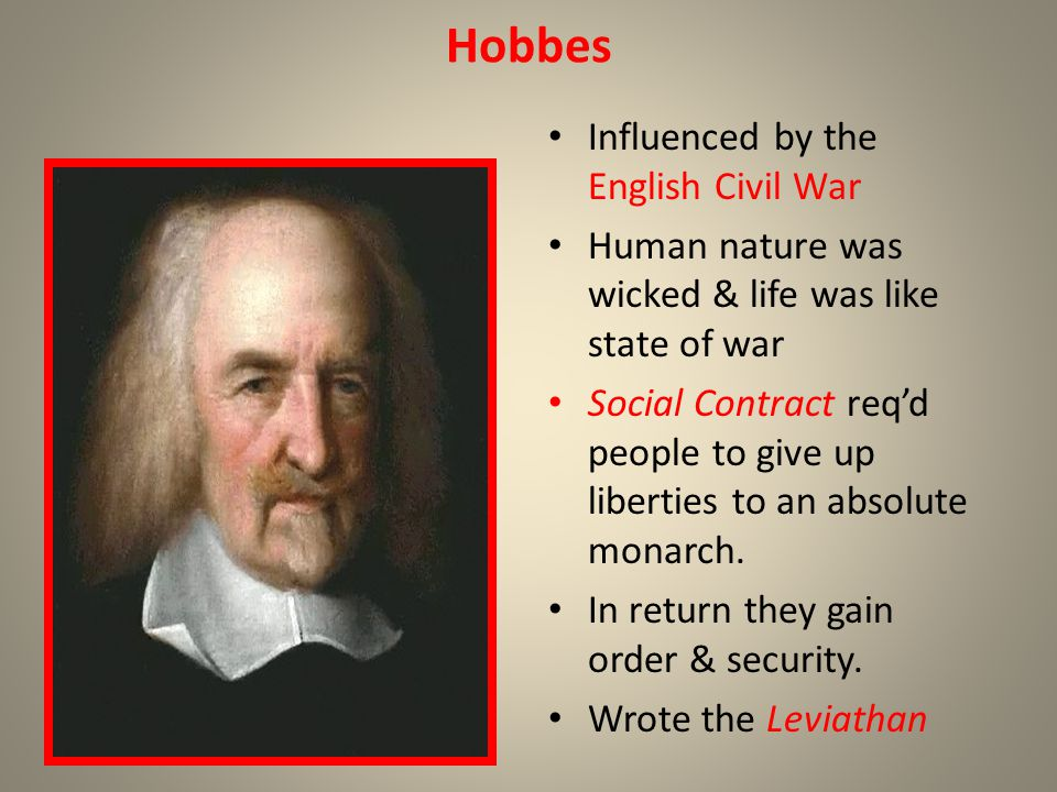 Hobbes Influenced by the English Civil War