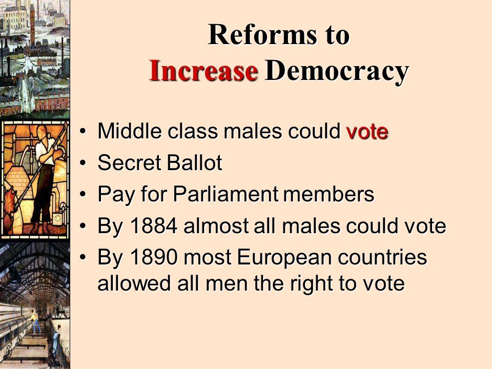 Reforms to Increase Democracy