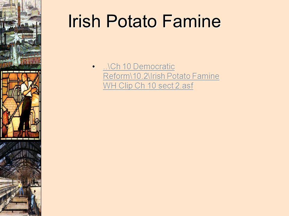 Irish Potato Famine ..\Ch 10 Democratic Reform\10.2\Irish Potato Famine WH Clip Ch 10 sect 2.asf