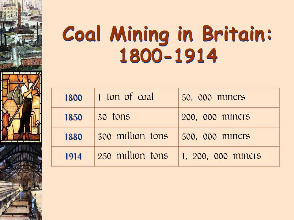 Coal Mining in Britain: 1800-1914