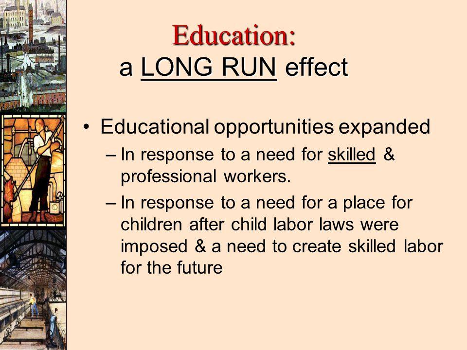 Education: a LONG RUN effect