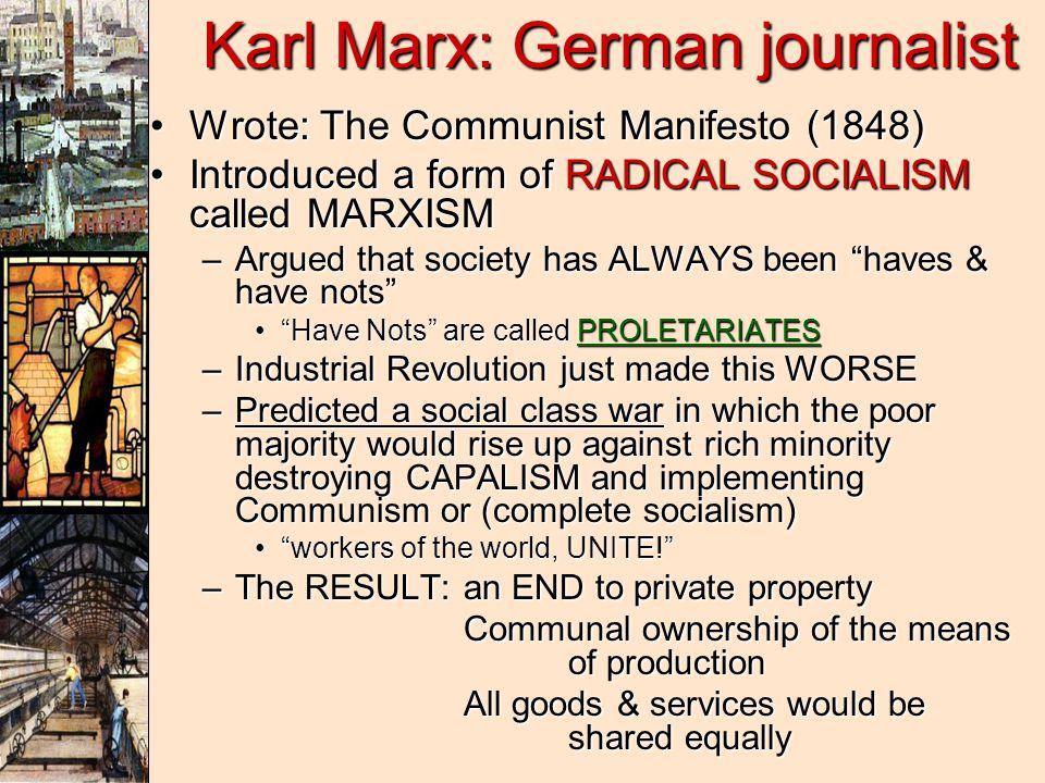Karl Marx: German journalist
