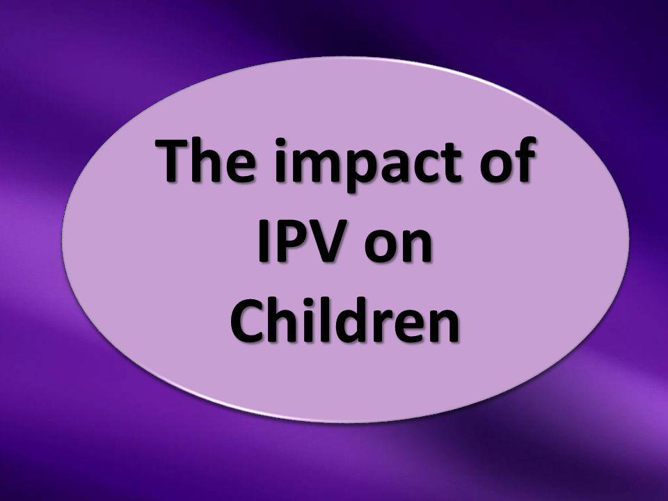 The impact of IPV on Children
