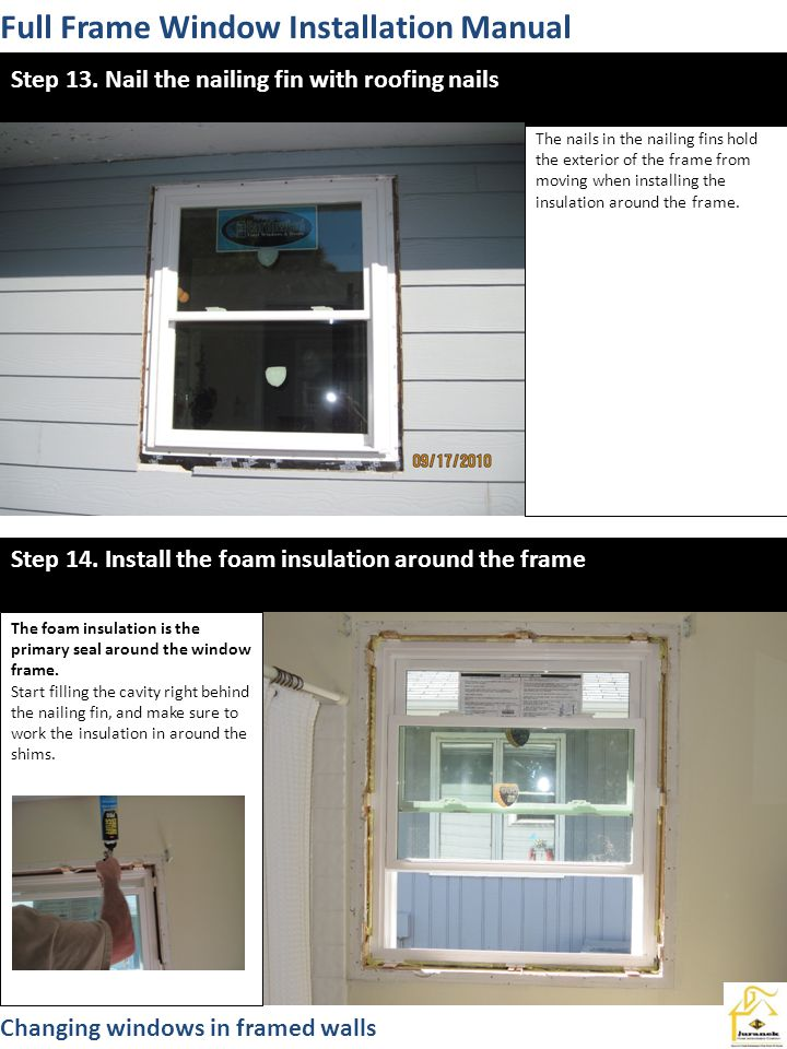 Full Frame Window Installation Manual
