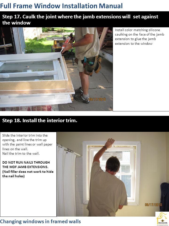 Full Frame Window Installation Manual