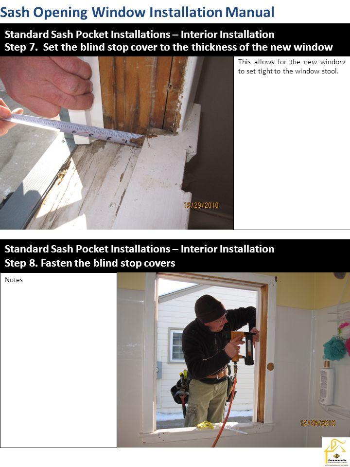 Sash Opening Window Installation Manual