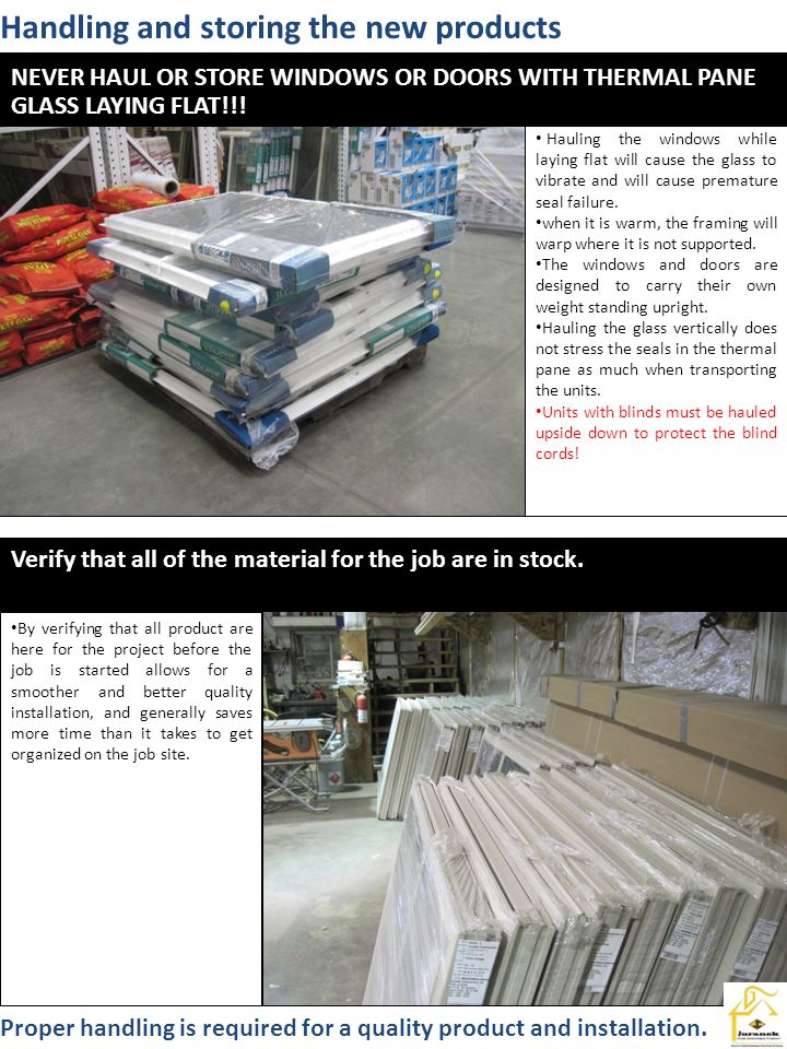 Handling and storing the new products