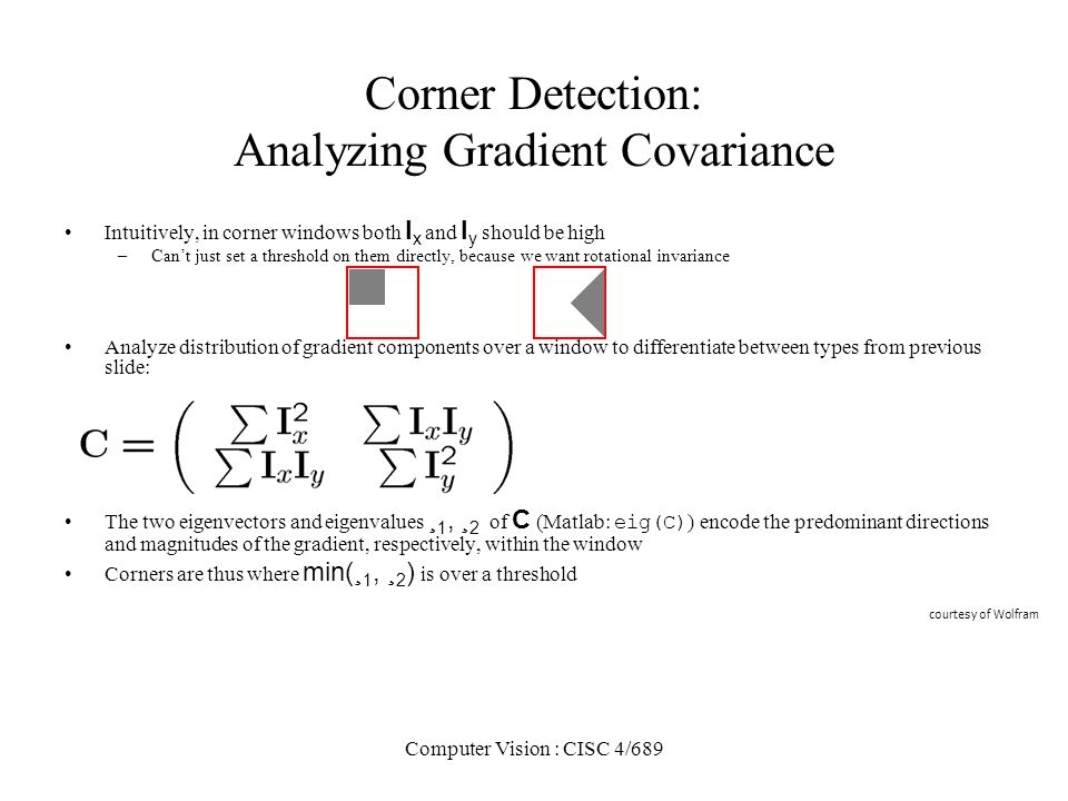 Corner Detection: Analyzing Gradient Covariance