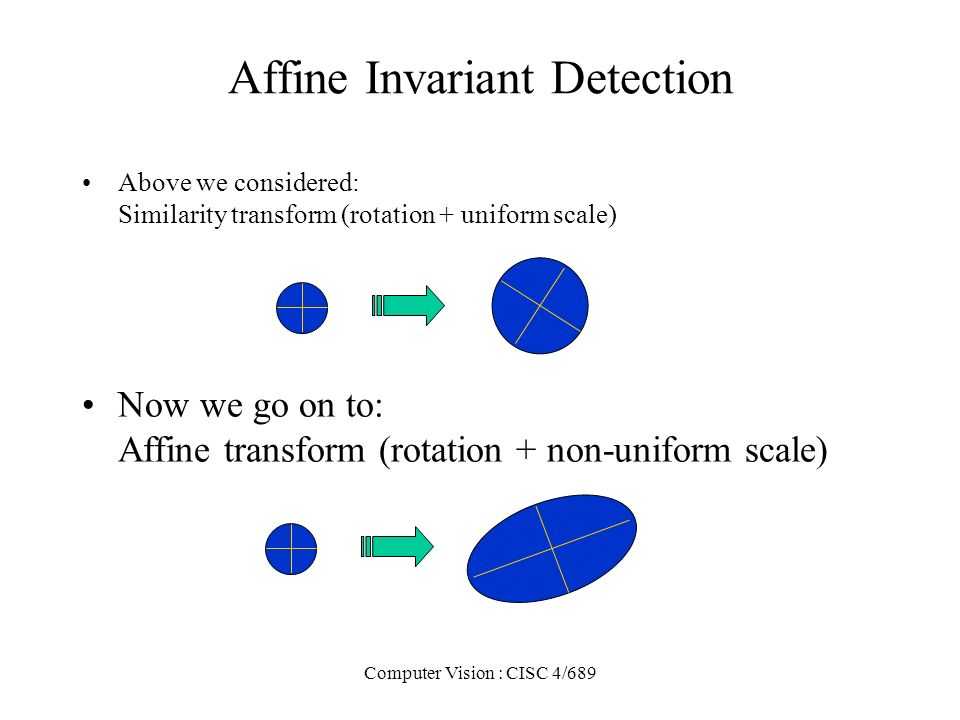 Affine Invariant Detection