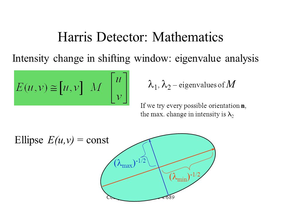 Harris Detector: Mathematics