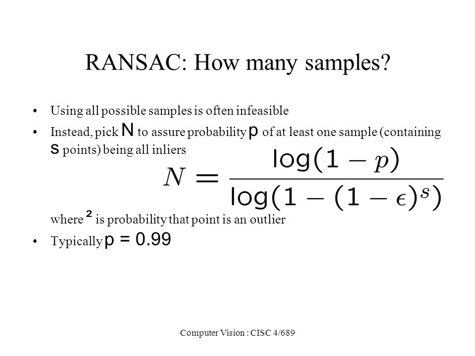 RANSAC: How many samples