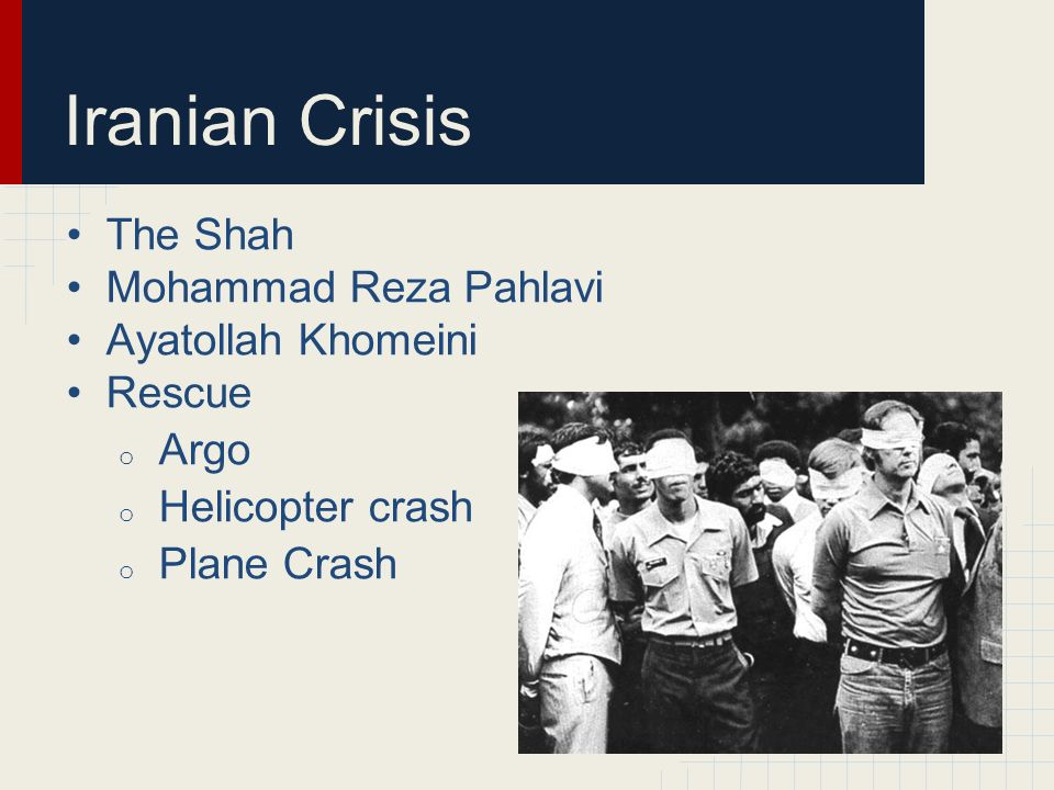 Iranian Crisis The Shah Mohammad Reza Pahlavi Ayatollah Khomeini