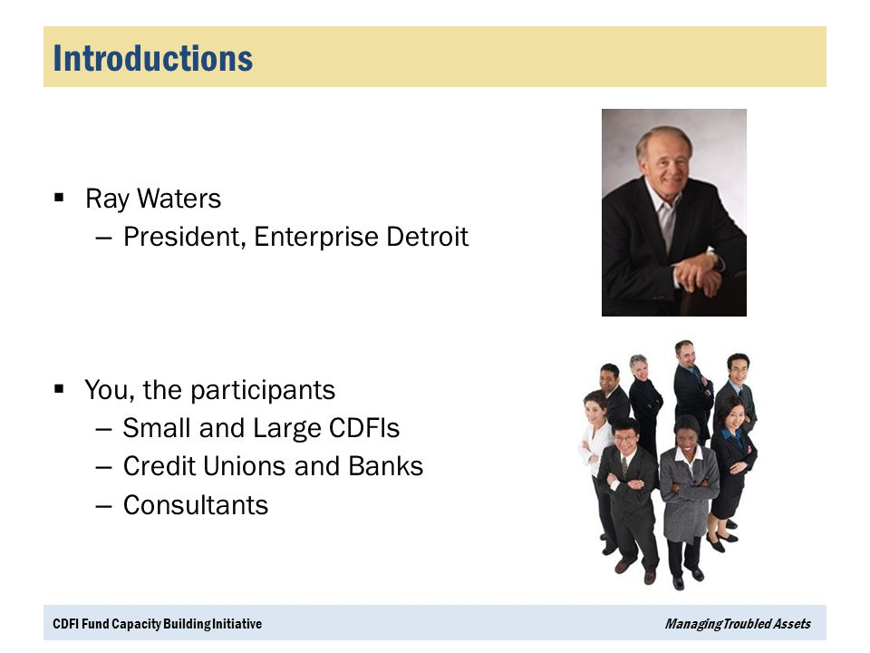 Introductions Ray Waters President, Enterprise Detroit