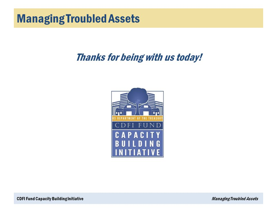 Managing Troubled Assets