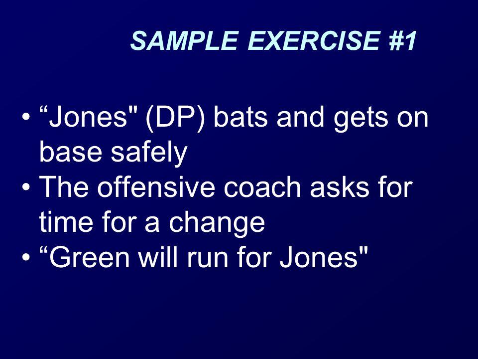 Jones (DP) bats and gets on base safely