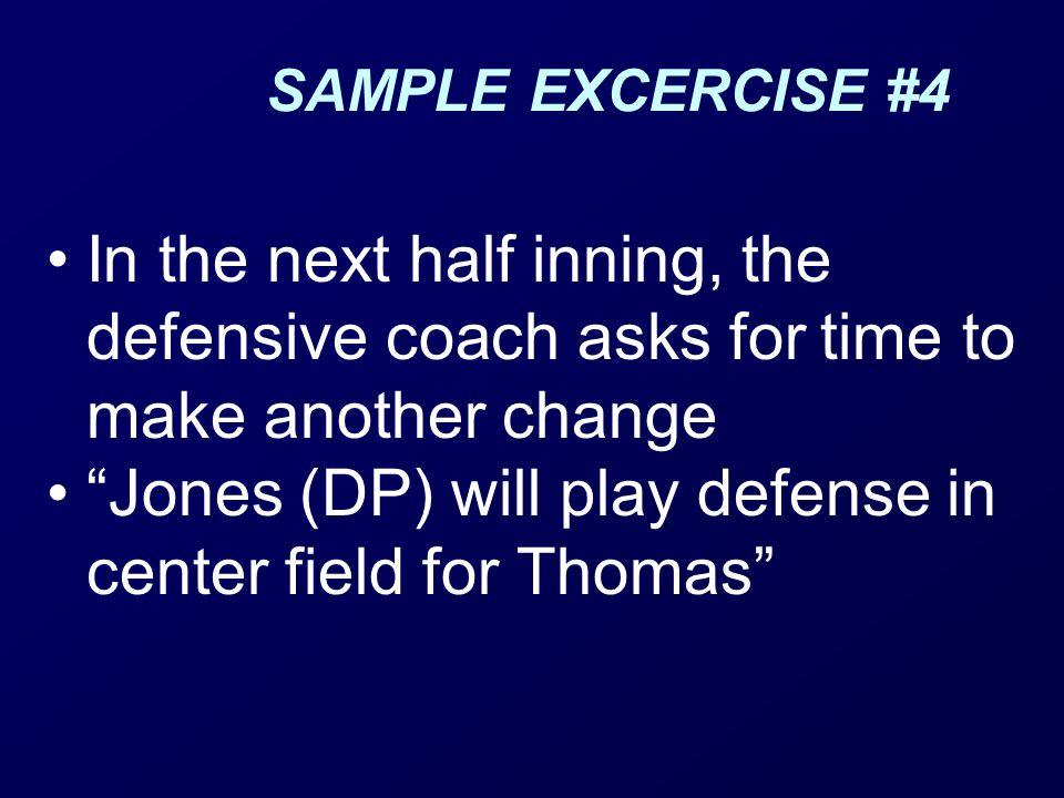 Jones (DP) will play defense in center field for Thomas