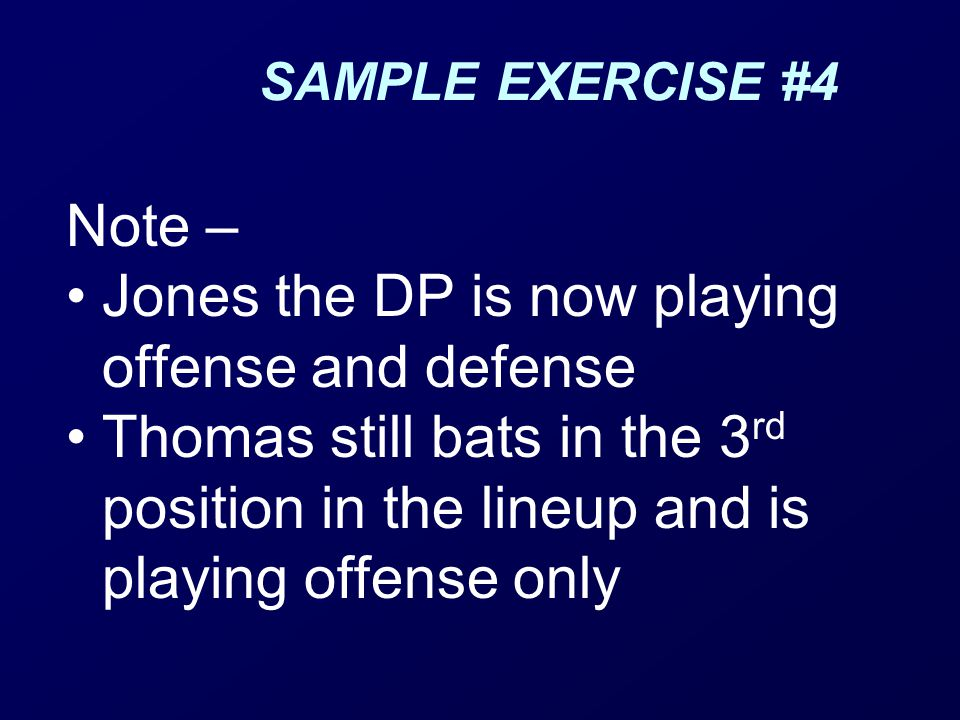 Jones the DP is now playing offense and defense