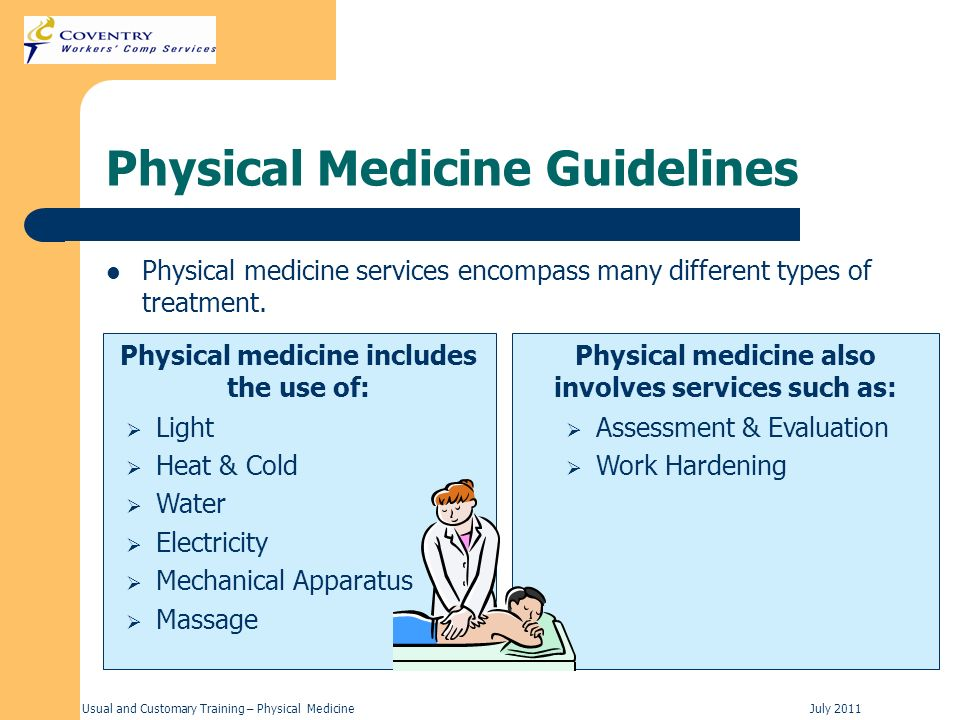 Physical Medicine Guidelines