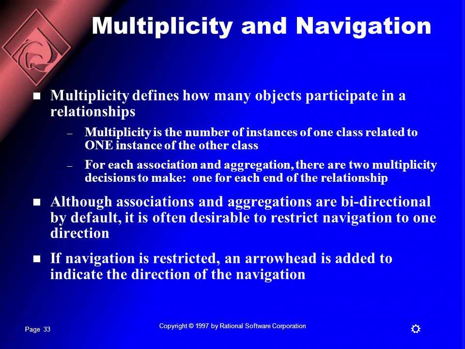 Multiplicity and Navigation