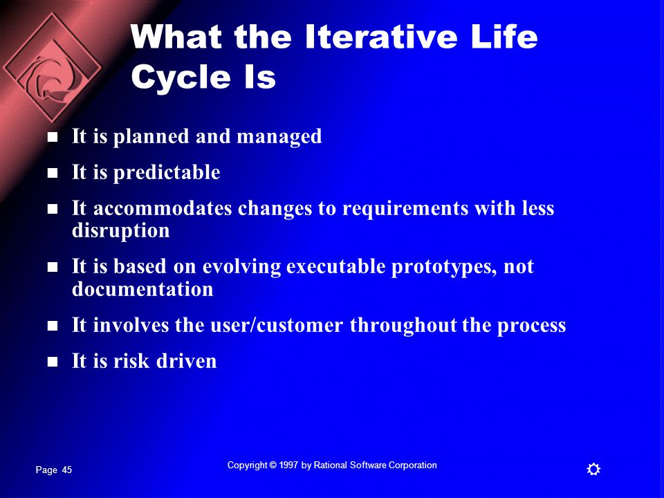 What the Iterative Life Cycle Is