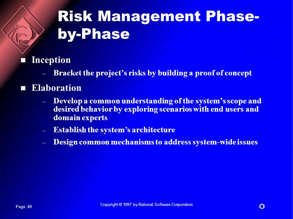 Risk Management Phase-by-Phase
