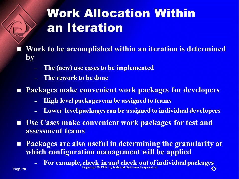 Work Allocation Within an Iteration
