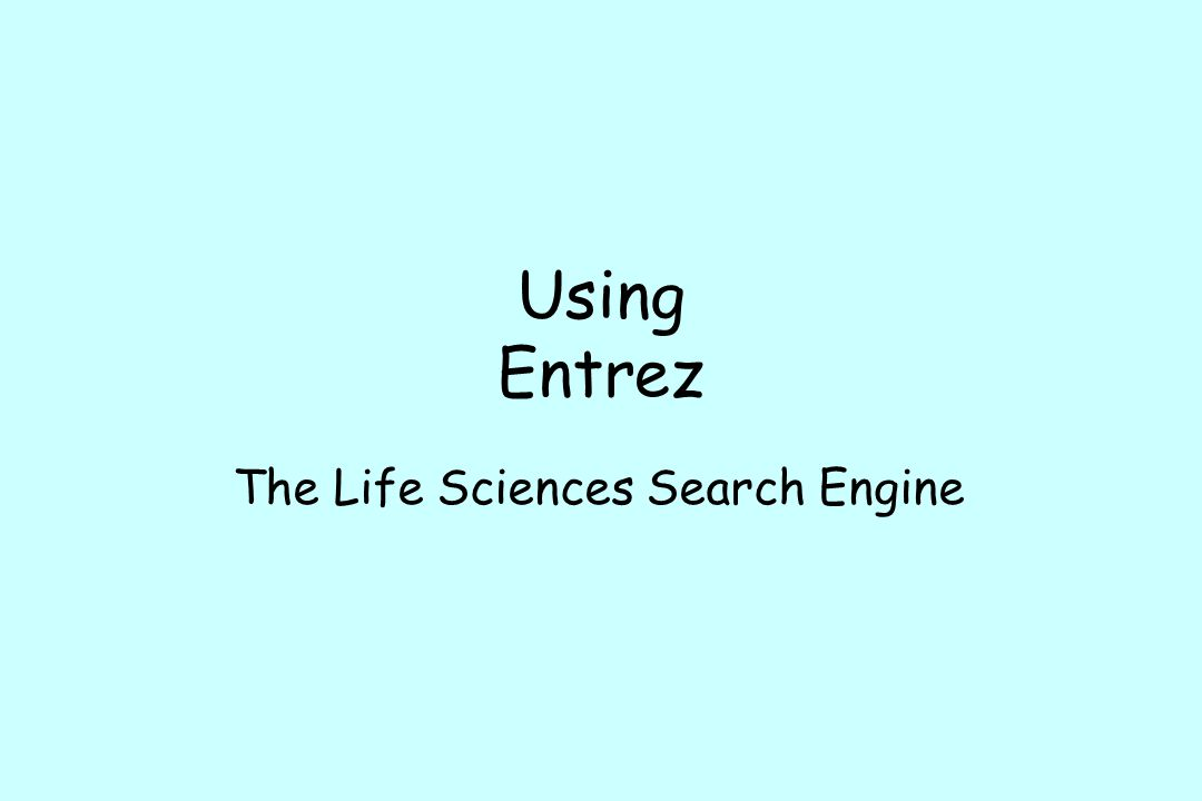 The Life Sciences Search Engine