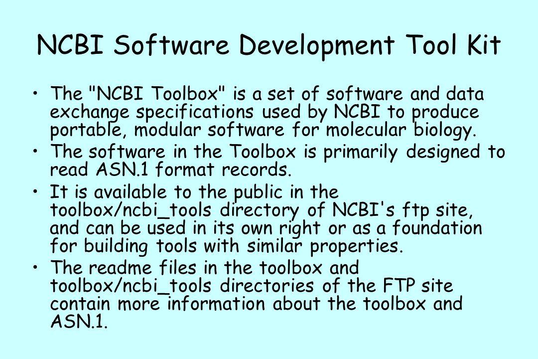 NCBI Software Development Tool Kit