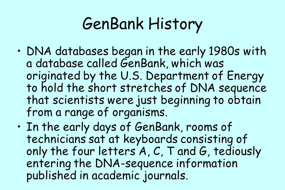 GenBank History