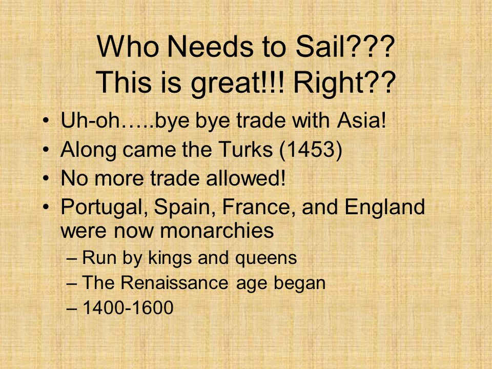 Who Needs to Sail This is great!!! Right