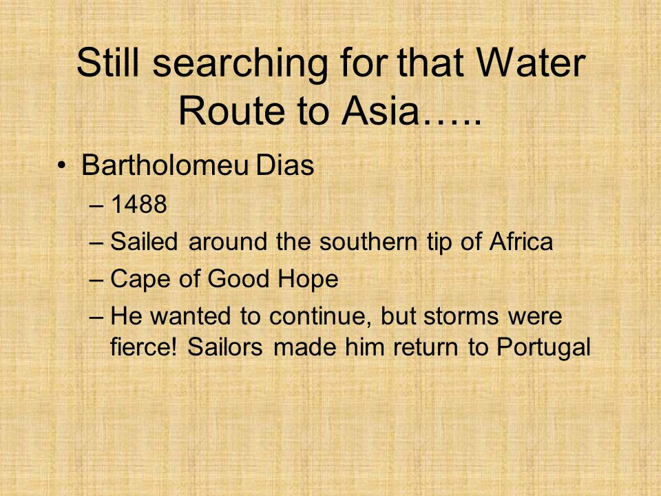Still searching for that Water Route to Asia…..