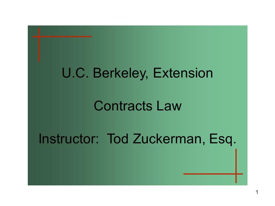 Instructor: Tod Zuckerman, Esq.